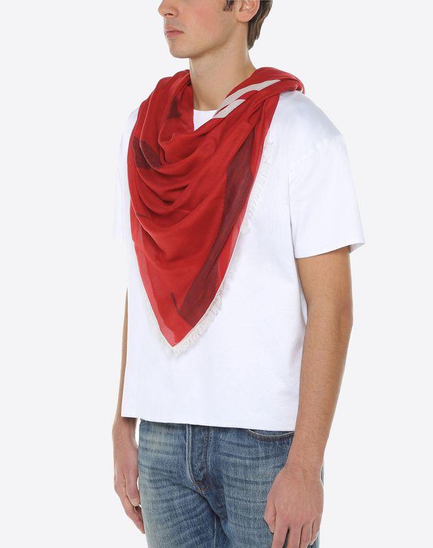 VLTN printed scarf