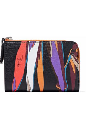EMILIO PUCCI Printed textured-leather wallet
