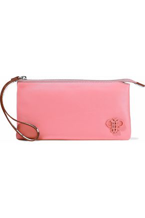 EMILIO PUCCI Smooth and printed textured-leather pouch