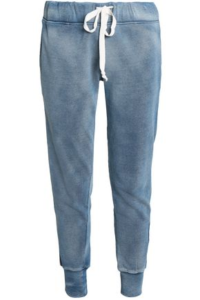 CURRENT/ELLIOTT Faded cotton tapered pants