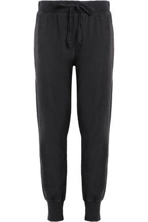 CURRENT/ELLIOTT Cotton-terry track pants