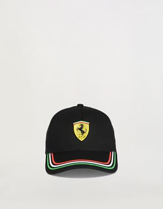 Scuderia Ferrari Online Store - Children's cap with tricolour design on the visor - Baseball Caps