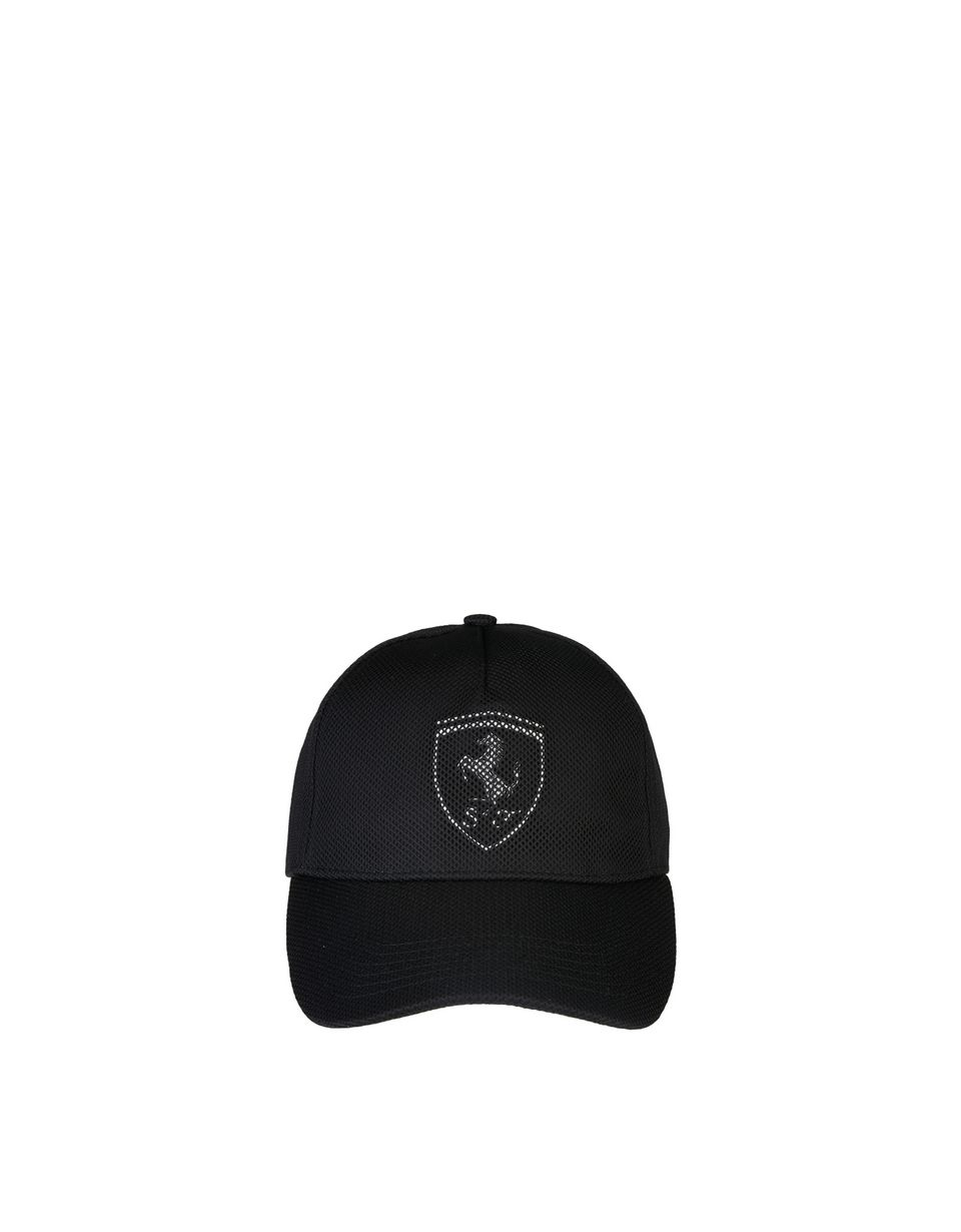 Scuderia Ferrari Online Store - Men's cotton and perforated fabric cap -