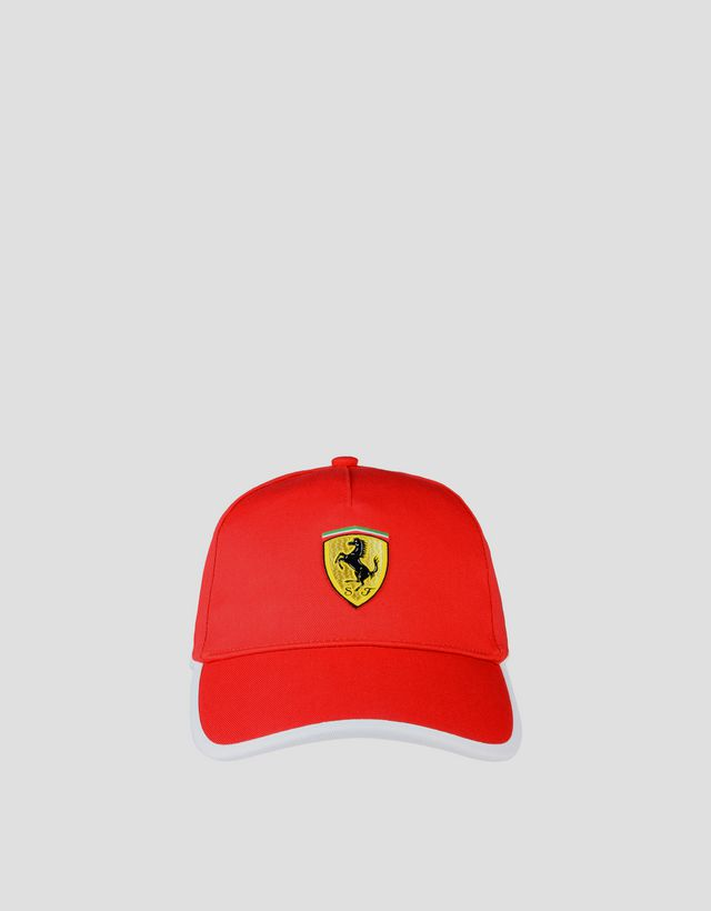 Scuderia Ferrari Online Store - Two-tone hat with Ferrari Shield - Baseball  Caps ... 66b1954940b