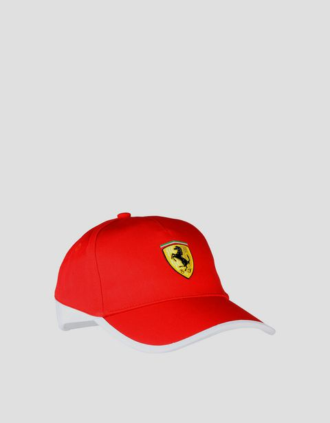 Men's two-tone cap with Ferrari Shield
