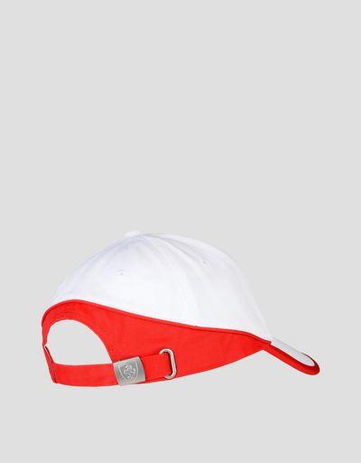 Scuderia Ferrari Online Store - Cappellino bicolore con Scudetto Ferrari - Cappellini da Baseball