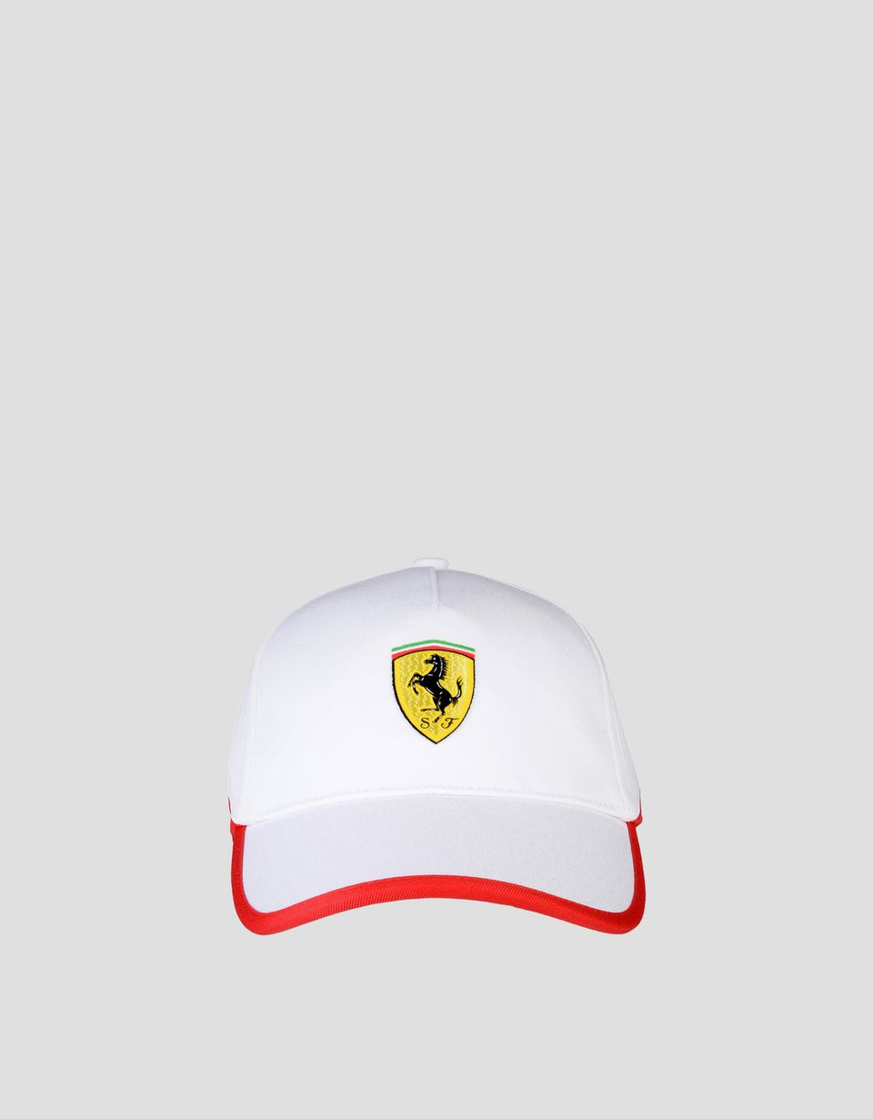 Scuderia Ferrari Online Store - Two-tone hat with Ferrari Shield - Baseball Caps