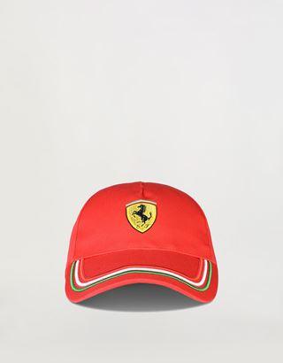 Scuderia Ferrari Online Store - Cap with tricolour design on the visor - Baseball Caps