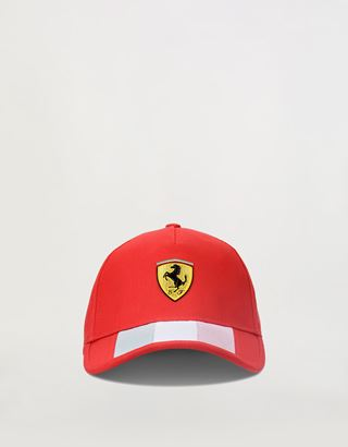 Scuderia Ferrari Online Store - Cap with Italian flag and perforated fabric on the visor - Baseball Caps