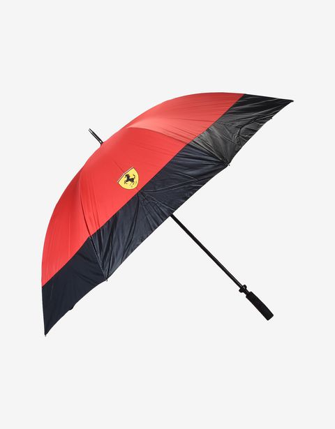 Golf umbrella with carbon fiber print