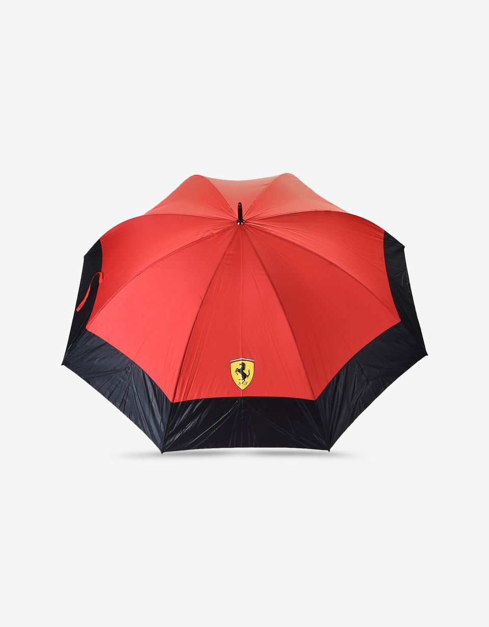 Scuderia Ferrari Online Store - Golf umbrella with carbon fibre print - Regular Umbrellas