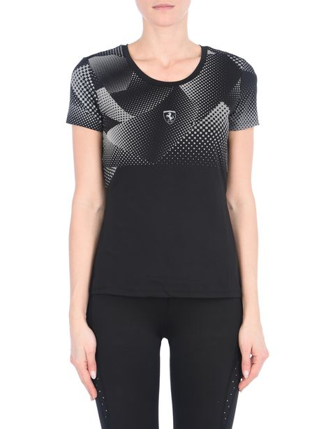 Women's athletic T-shirt in reflective technical fabric