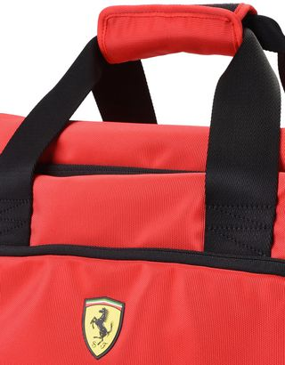 Scuderia Ferrari Online Store - Sports bag with contrasting color details - Duffle Bags