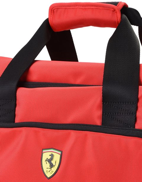 Scuderia Ferrari Online Store - Sports bag with contrasting color details -