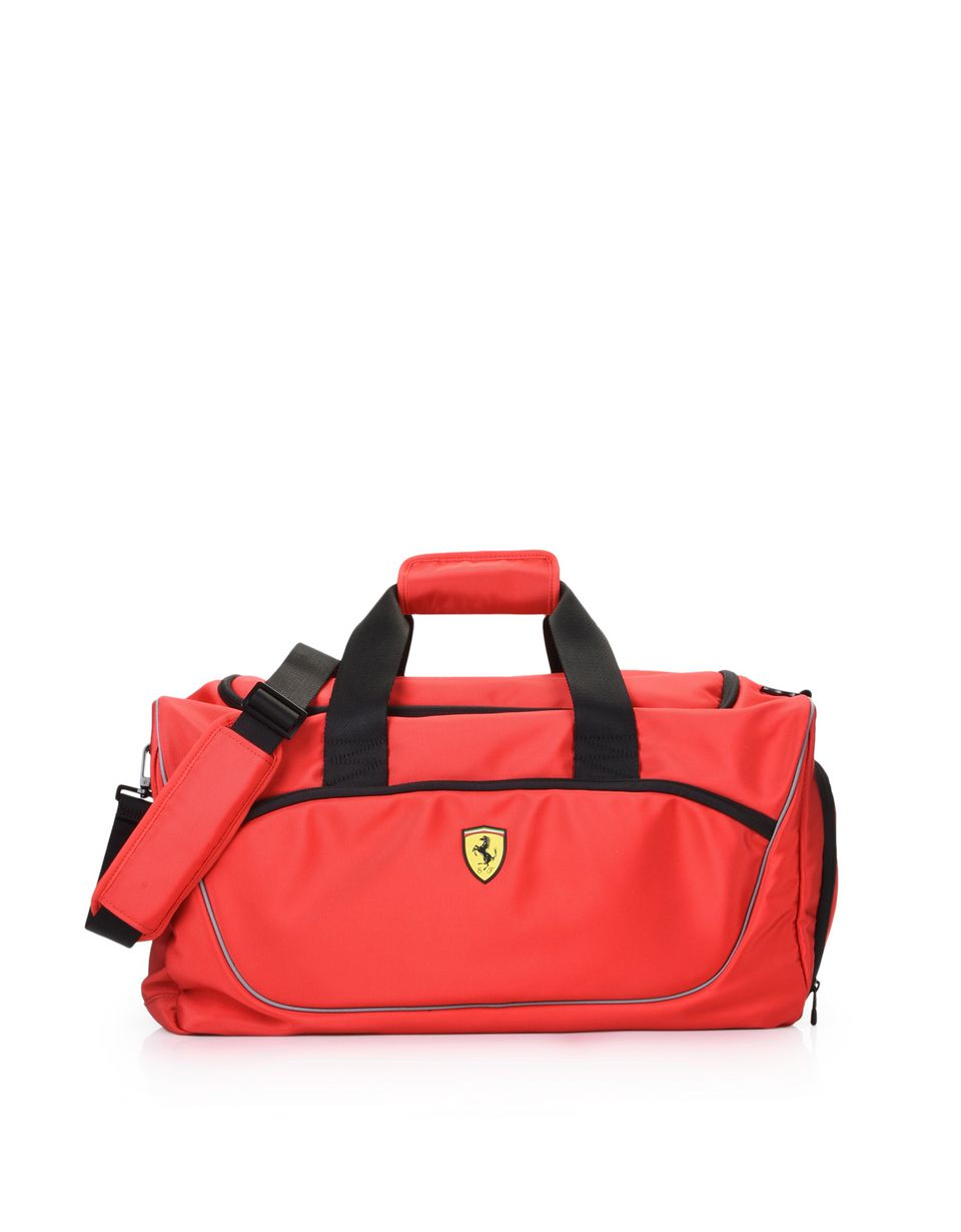 Scuderia Ferrari Online Store - Sports bag with contrasting colour details - Duffle Bags