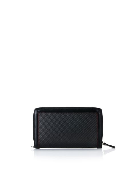 Calfskin and carbon fiber clutch