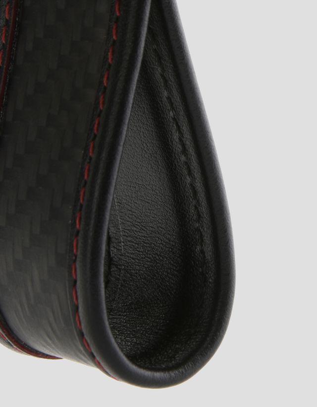 Scuderia Ferrari Online Store - 碳纤维与皮革钥匙扣 - 钥匙扣