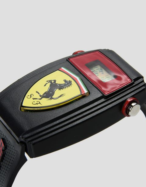 Digital watch for teens with Ferrari shield
