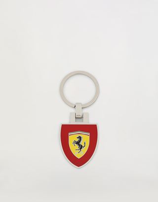Scuderia Ferrari Online Store - Metal key ring with enamel Shield on a red background - Keyrings