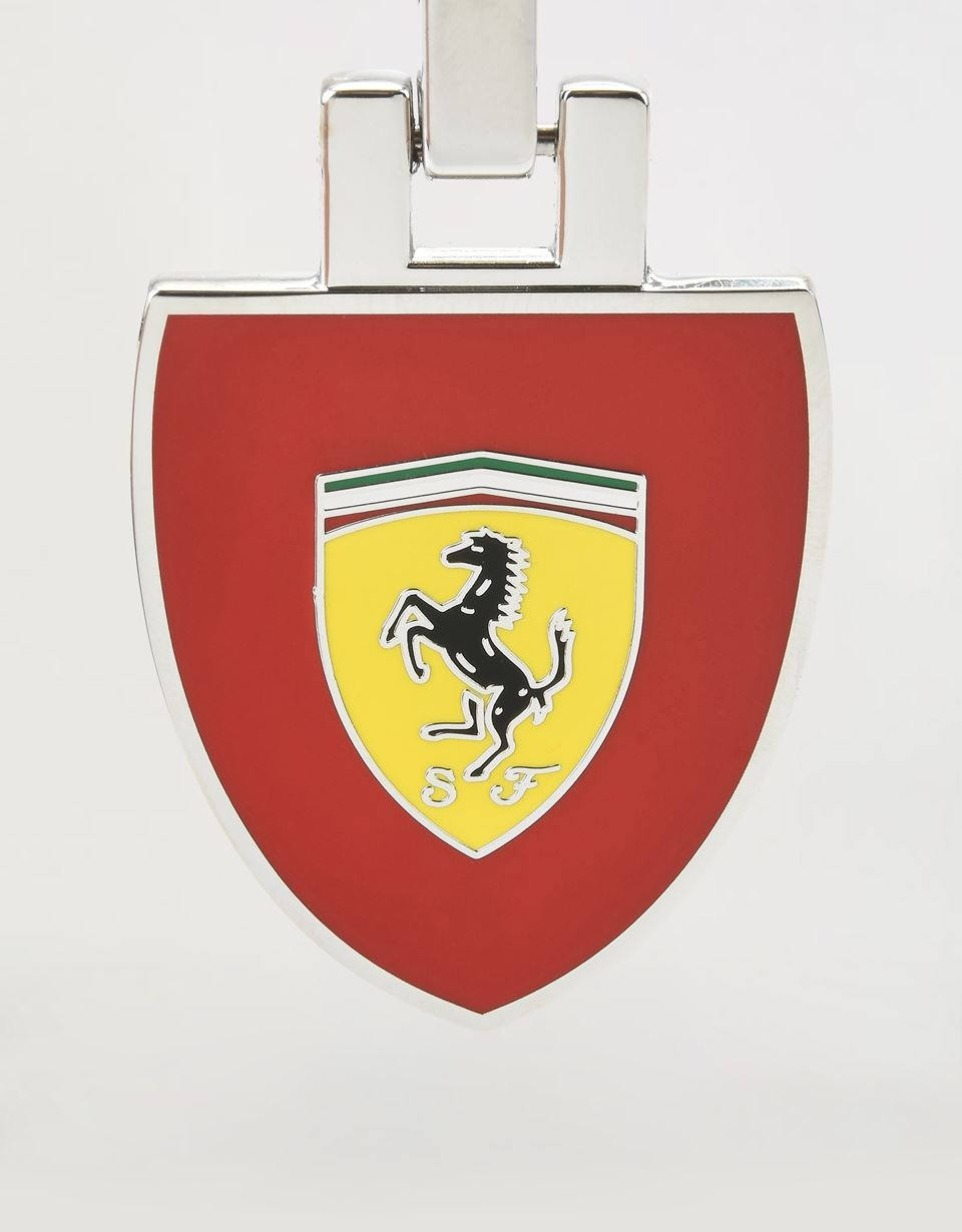 Scuderia Ferrari Online Store - Metal keyring with enamel Ferrari Shield on a red background - Keyrings