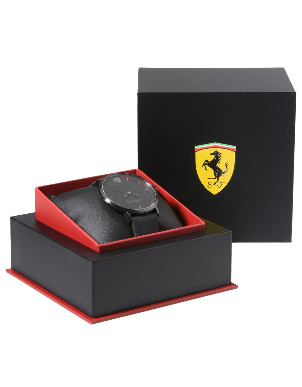 Scuderia Ferrari Online Store - Scuderia Ferrari Ultraleggero watch in black - Quartz Watches