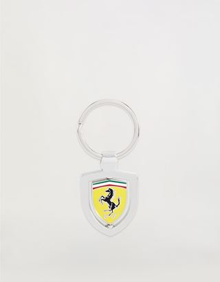 Scuderia Ferrari Online Store - Rotating metal keyring with enamel Ferrari Shield - Keyrings