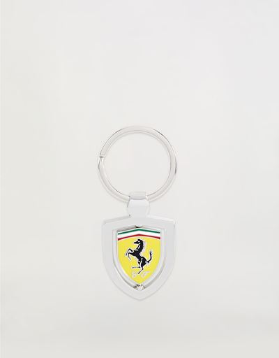 Rotating metal keyring with enamel Ferrari Shield