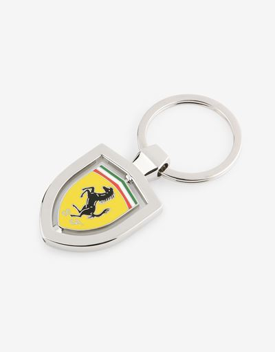 Swivel metal key ring with enamelled Ferrari Shield