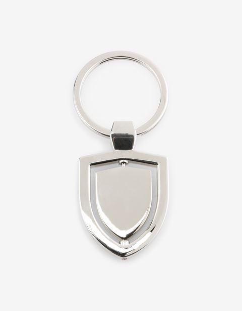 Scuderia Ferrari Online Store - Porte-clés pivotant en métal orné du Scudetto Ferrari - Anneaux porte-clés
