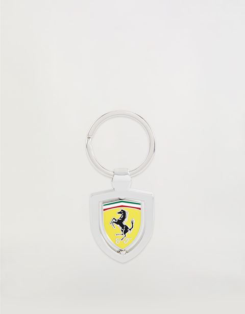 Revolving metal keyring with Ferrari Shield