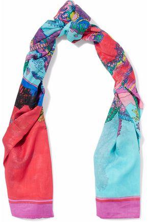 EMILIO PUCCI Printed cotton-gauze scarf