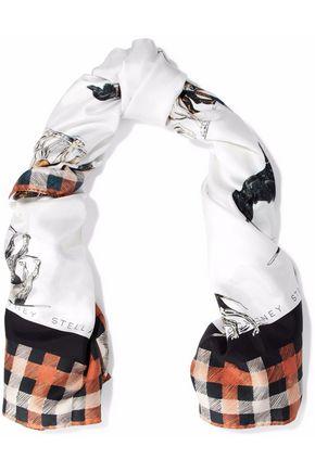STELLA McCARTNEY Printed silk-twill scarf