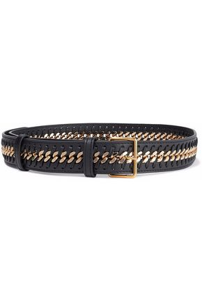 STELLA McCARTNEY Chain-embellished faux leather belt