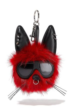 STELLA McCARTNEY Embellished faux fur keychain
