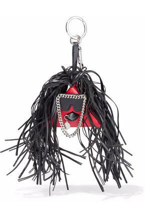STELLA McCARTNEY Fringed faux-leather keychain