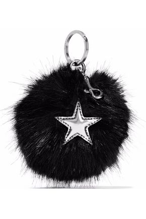 STELLA McCARTNEY Metallic-appliquéd faux fur keychain