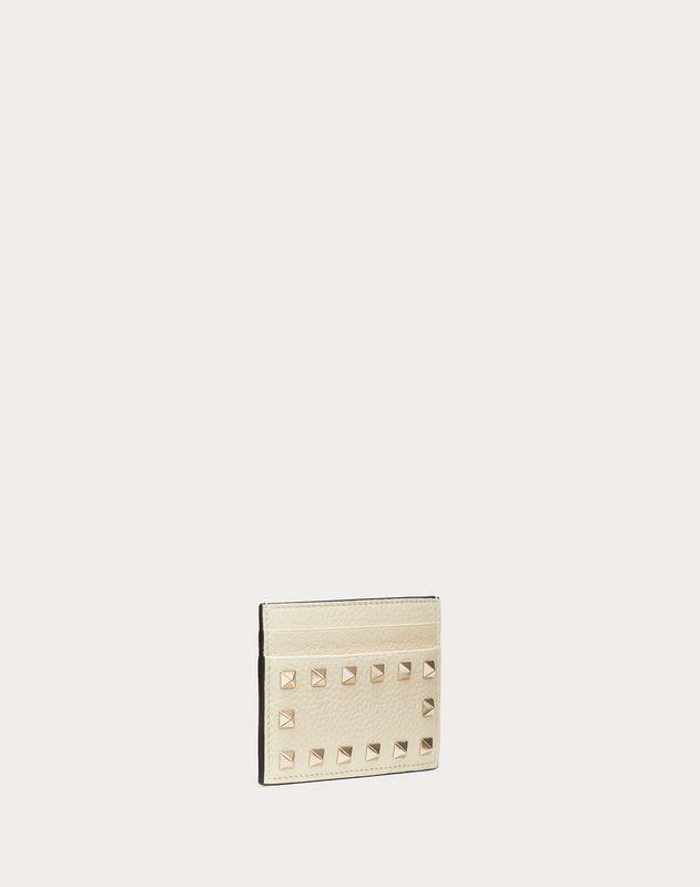 Porte-cartes Rockstud en veau grainé