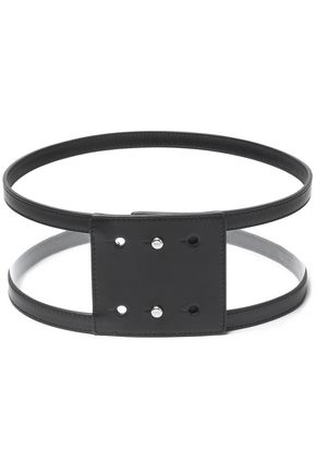 EMILIO PUCCI Leather-trimmed PVC belt