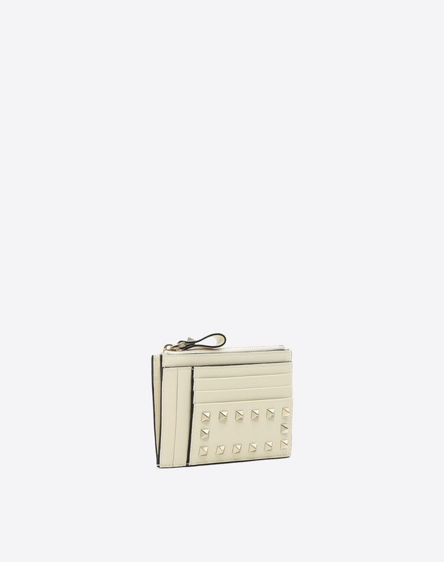 Rockstud Zip Card Case