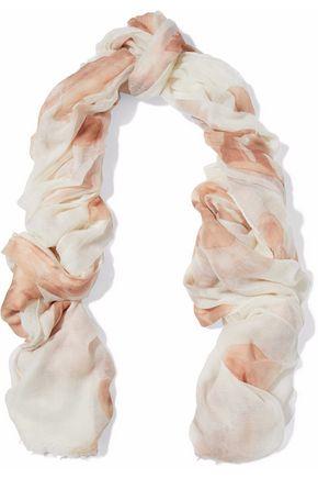 BRUNELLO CUCINELLI Printed cashmere scarf