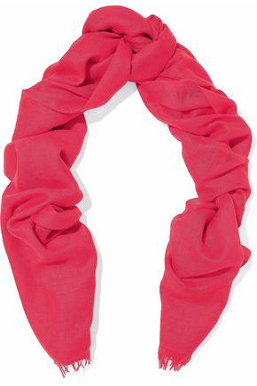 BRUNELLO CUCINELLI Fringed cashmere and silk-blend scarf