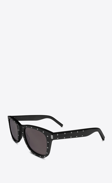 SAINT LAURENT BOLD E classic 51 studded sunglasses in black acetate and gray lenses b_V4
