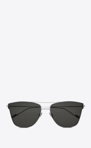 SAINT LAURENT CLASSIC E classic 51 t sunglasses in silver titanium and gray lenses a_V4