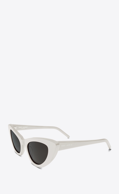 SAINT LAURENT NEW WAVE Woman NEW WAVE 213 LILY sunglasses in ivory acetate and gray lenses b_V4