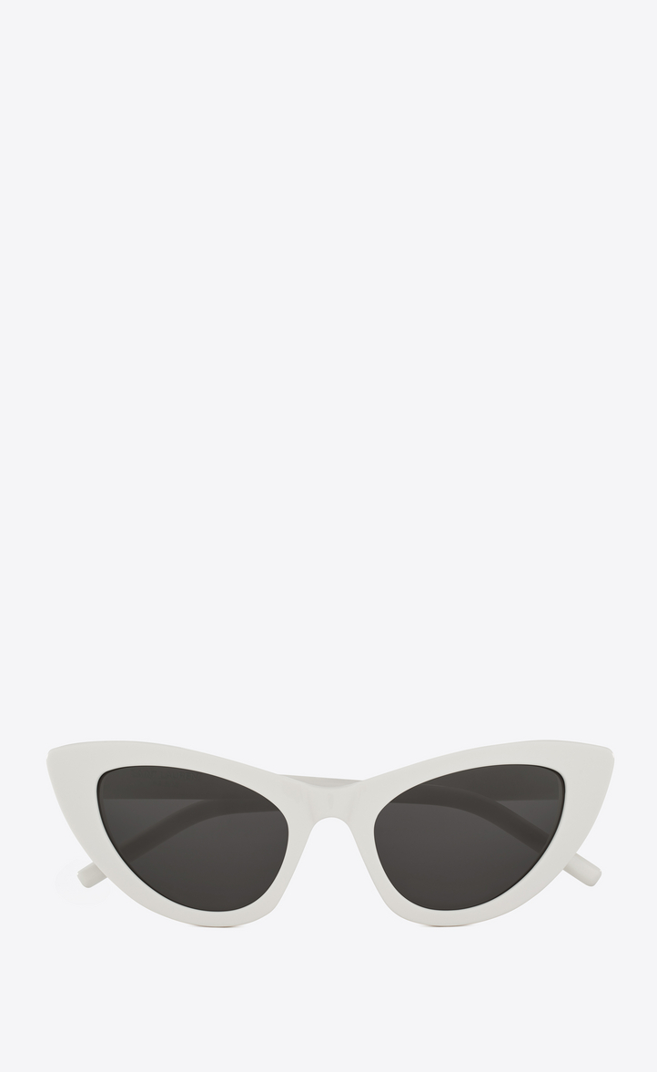 White SL 213 Lily Cat-Eye Sunglasses Saint Laurent pADCAzsFU
