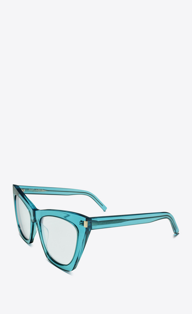 SAINT LAURENT NEW WAVE Woman NEW WAVE 214 KATE sunglasses in acetate and clear turquoise lenses b_V4