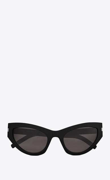 SAINT LAURENT NEW WAVE Woman NEW WAVE 215 GRACE sunglasses in black acetate and gray lenses a_V4