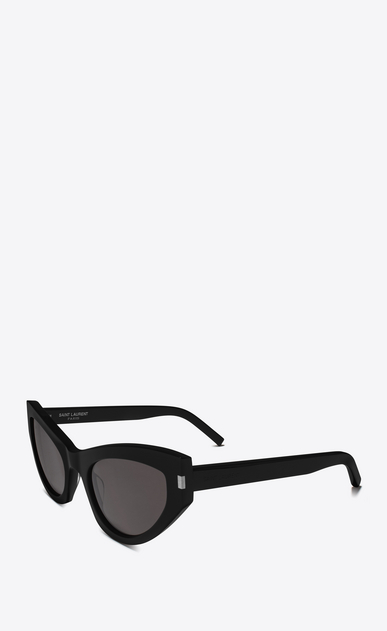 SAINT LAURENT NEW WAVE Woman NEW WAVE 215 GRACE sunglasses in black acetate and gray lenses b_V4