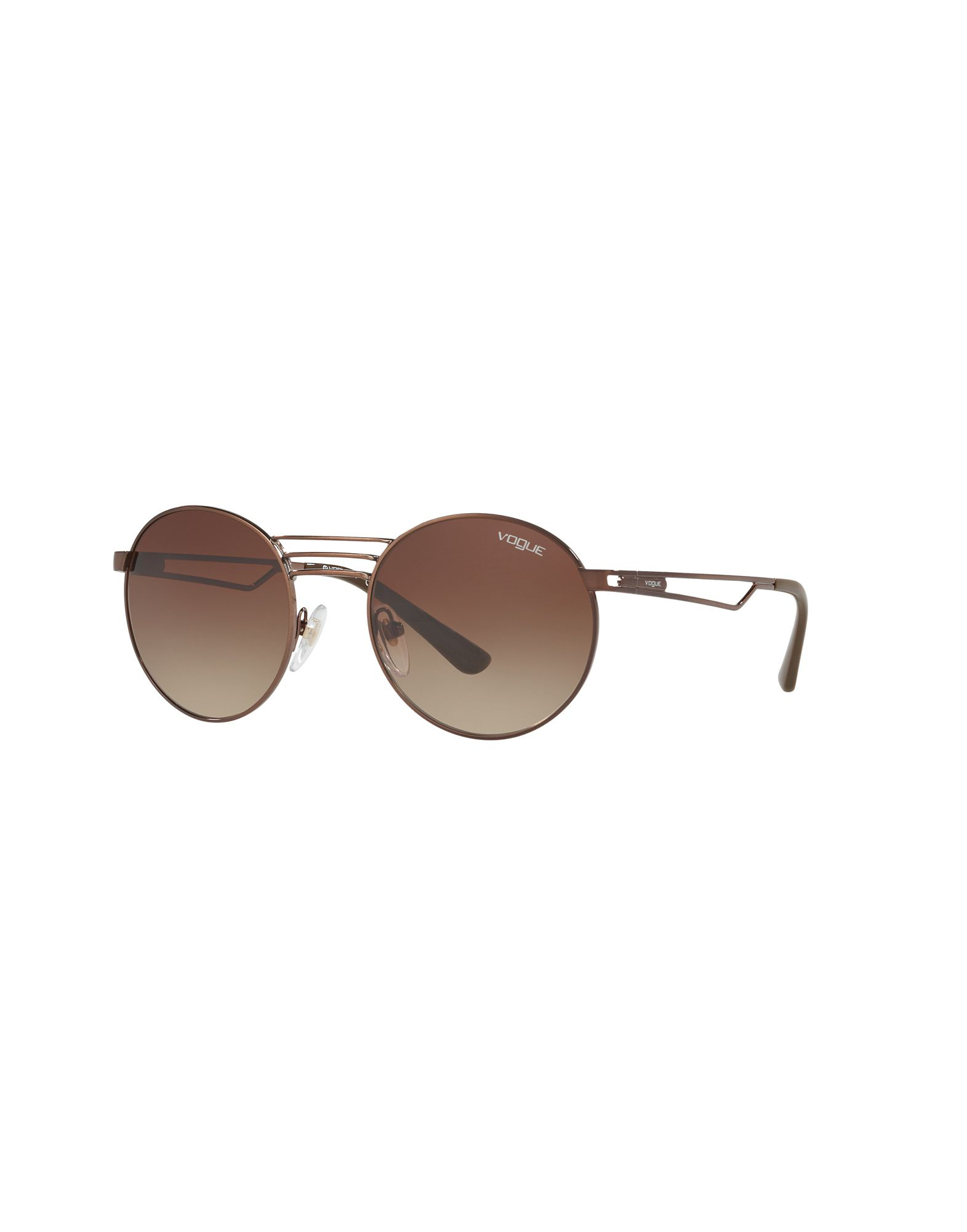 VOGUE Солнечные очки vogue vogel huaguang серии оправа модные и элегантные красное вино половины кадра каркасной оптические оправы vo4017d 812s 53mm