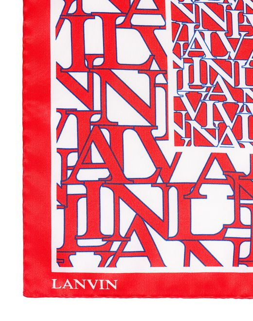 lanvin square lanvin logo scarf women